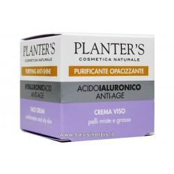 Acido Ialuronico - Crema Viso anti-age per pelli miste e grasse