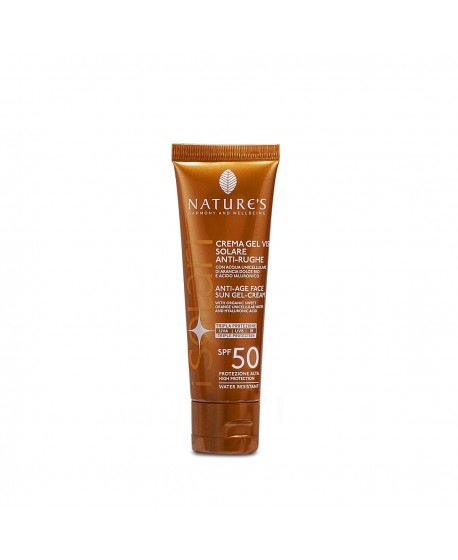 I Solari - Crema-gel viso Solare Antirughe SPF50