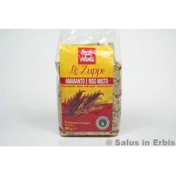 Zuppa di amaranto e riso misto
